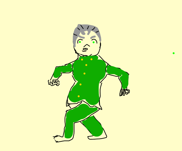 Koichi pose but koichi is giving the ok symbo