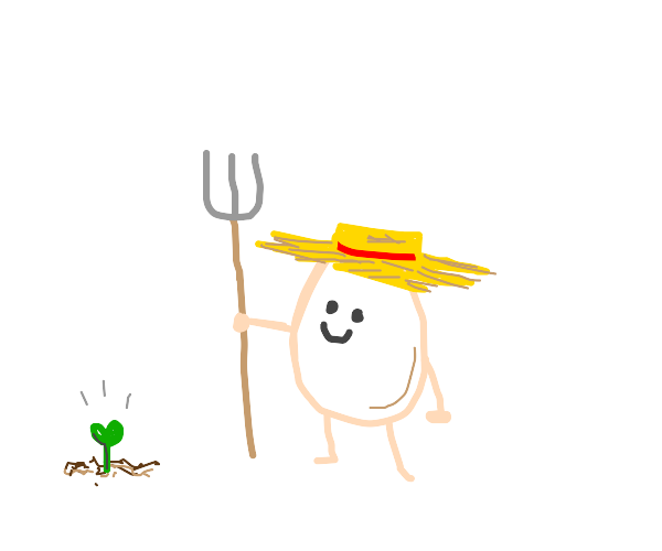 happy farmer egg