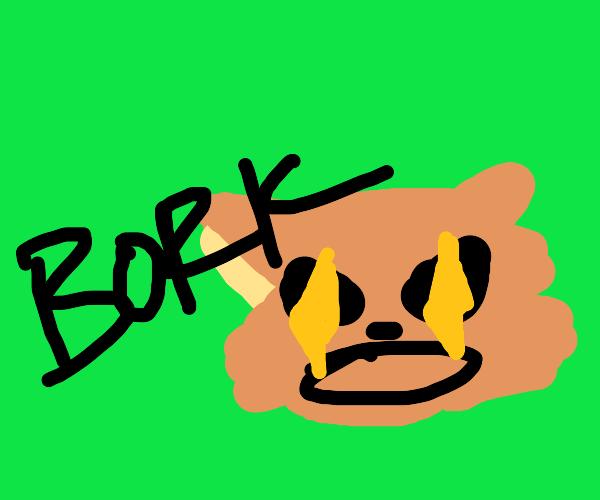 """BORK"" says demon dog"