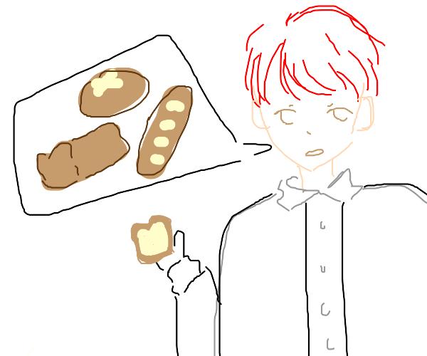 redhead talks about bread