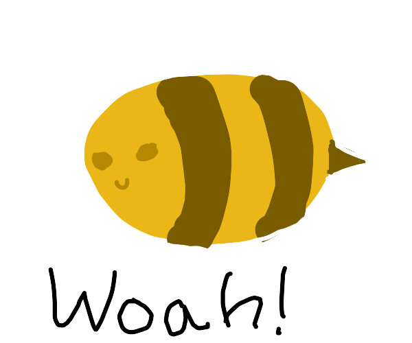 Whoa! Bee with no wings!