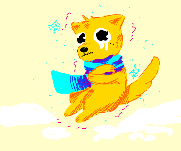 cold pupper!!! oh nos!!!!