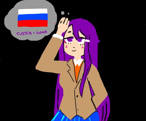 yuri from ddlc is russian