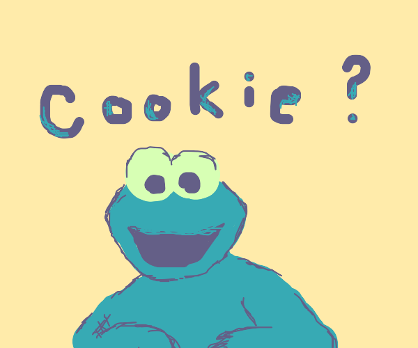 Cookiemonster following a cookie