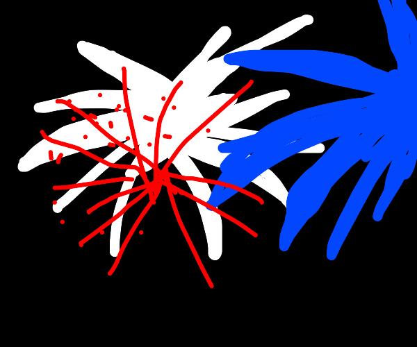 U.S.A Fireworks display