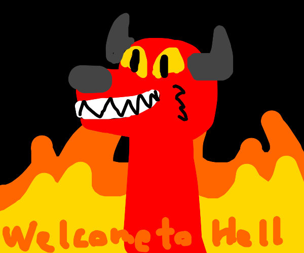 """Demonic Furry Says """"Welcome to Hell"""""""