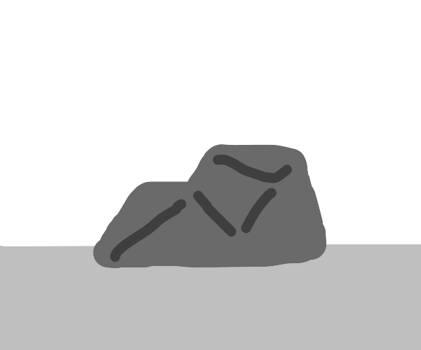 A gray rock
