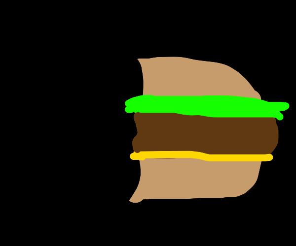 Half eaten MacDonald's meal