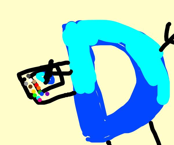 Drawception D playing drawception