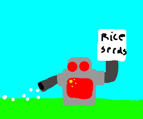 CHINESE robot plants rice