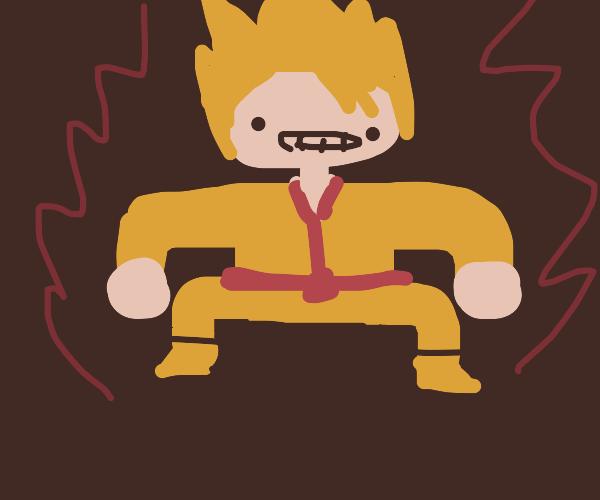 goku doing squats