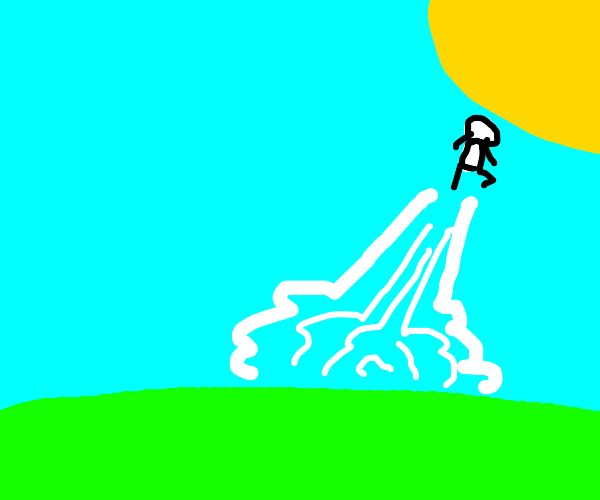 a man jumping to the sun