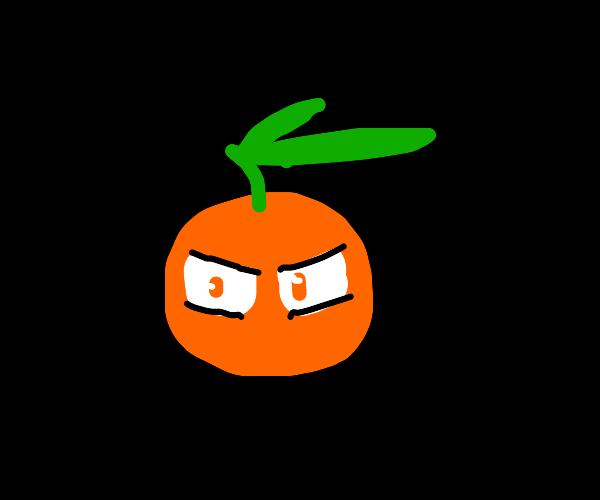 Orange with anime eyes