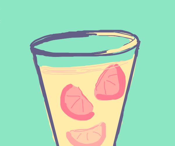 Glass of Lemonade with Oranges