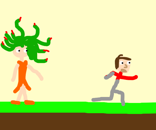 Medusa attacking people in broad daylight