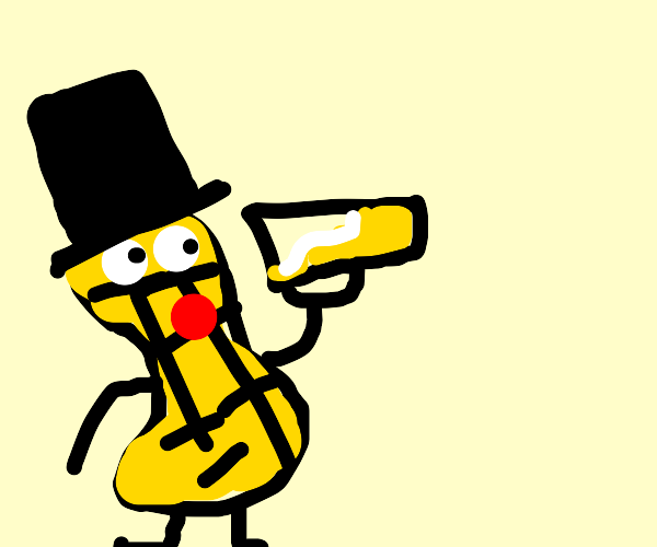 Mr. Peanut decided to drink till he's choking