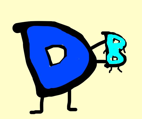 Drawception logo shows off its baby B