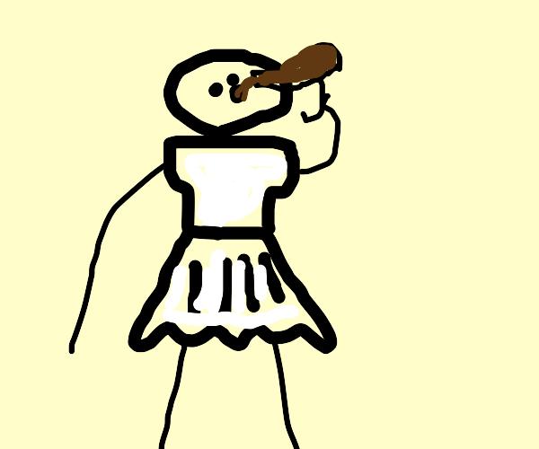 Maid Drinking