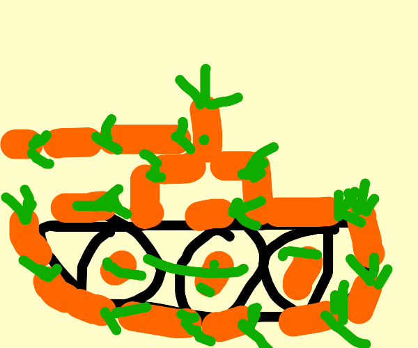 Tank made of carrots