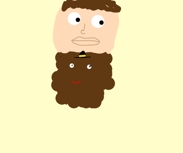 Beard wearing a Hat