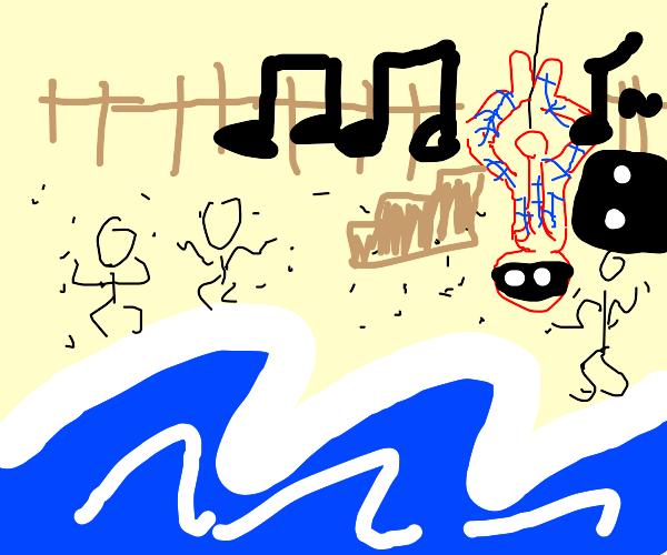 Spider-Man threw a CRAZY beach party