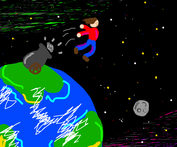 Blasting off away from the world