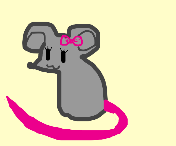 female mouse with a super long tail
