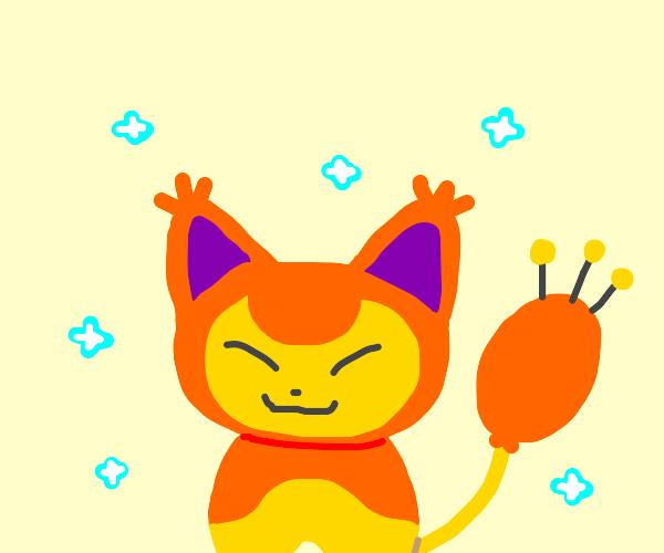 A shiny pokemon
