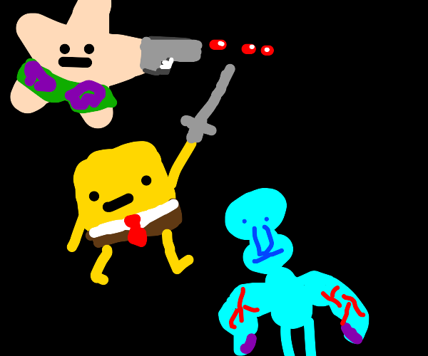 Spongebob's friends will fight to the death