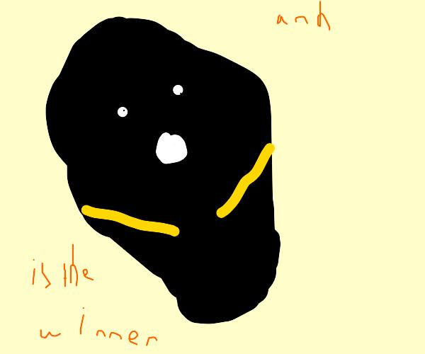 a piece of coal wins