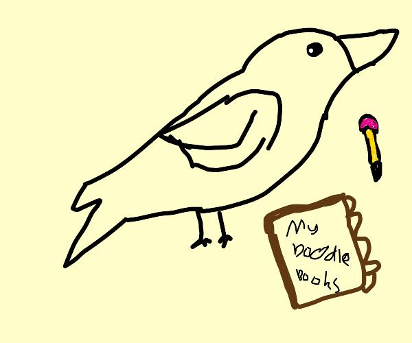 doodling crow :)