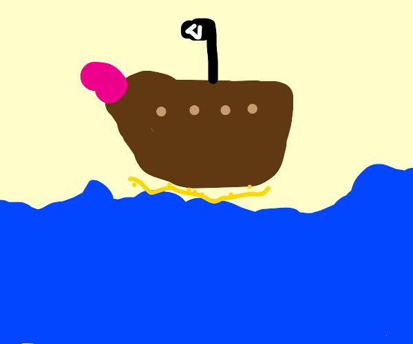 Unrealistic pirate ship