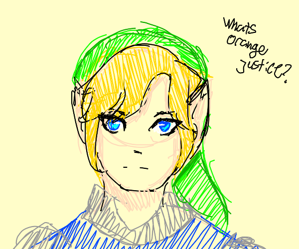 Link doing orange justice