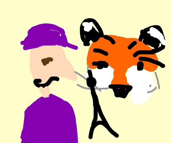wario meets a tiger in paris