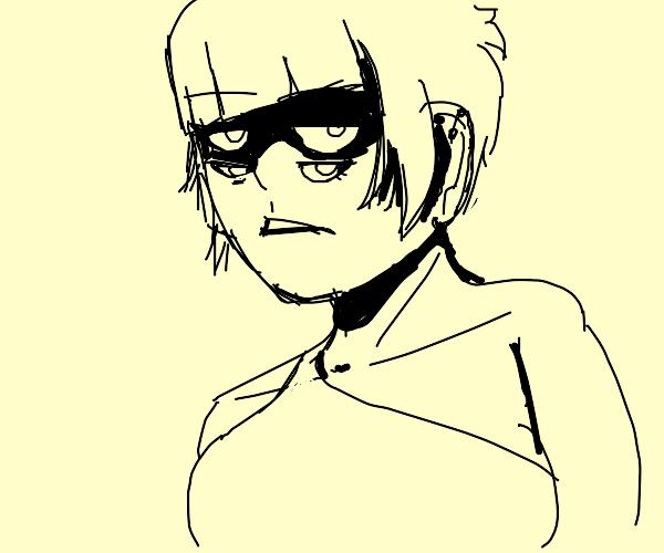 The four-eyed girl.