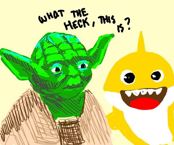 Yoda meets baby shark