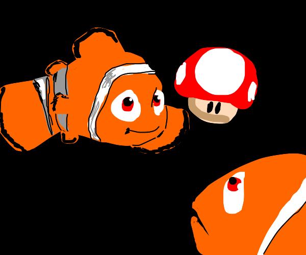 Nemo feeds magic mushroom to dad
