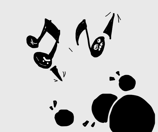 music and spikes attack the dots