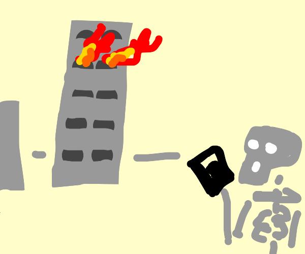 (Ded inside)call 9-1-1 fire