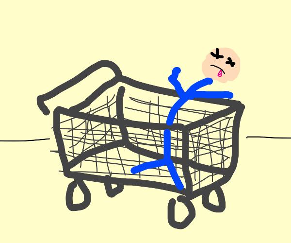 Amazon brand shopping cart.
