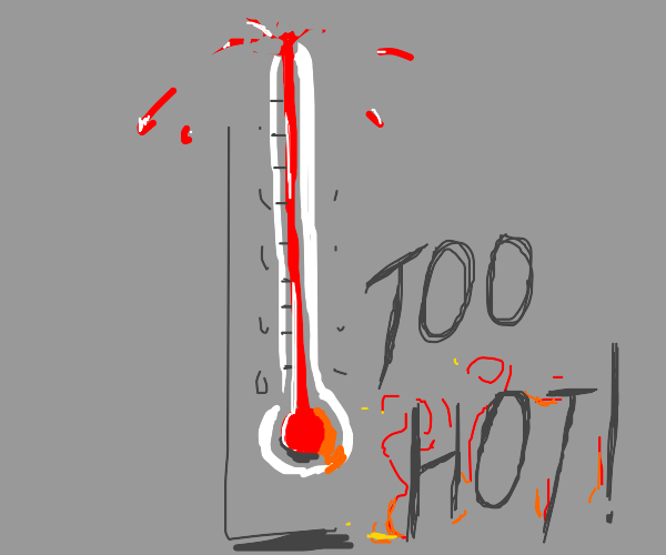 it's so hot, the thermometer broke