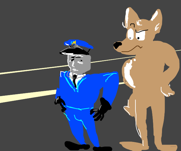 A lost cop and his lost furry friend