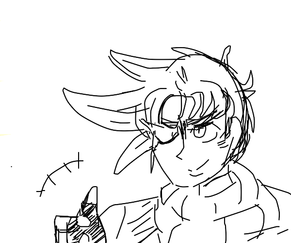 Young Joseph Joestar gives a thumbs up