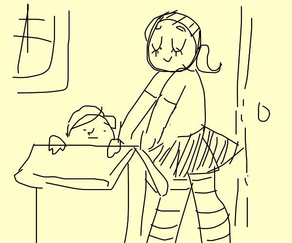 Girl Boxing Guy
