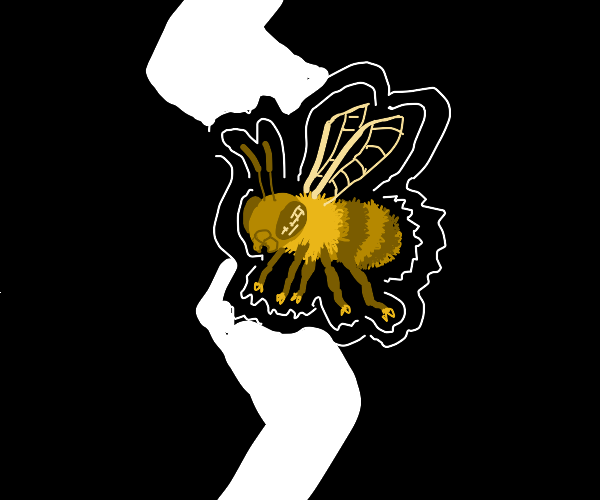 A bee struck by lightning