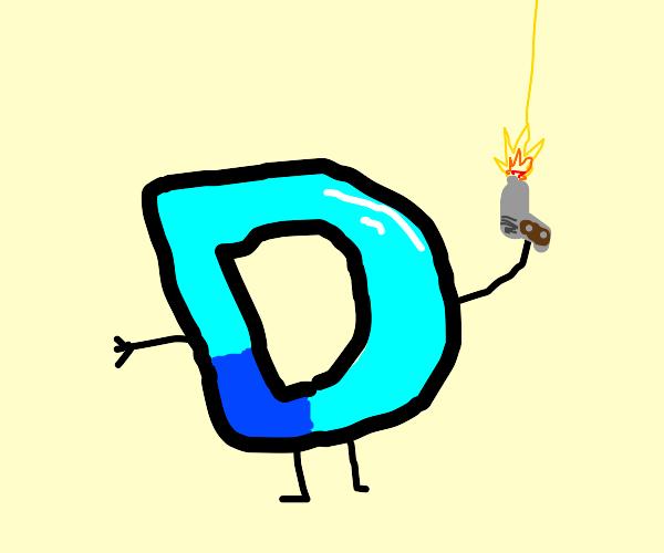 Drawception D with a gun