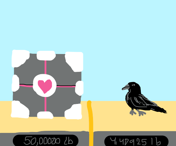 a crow is almost as heavy as a block