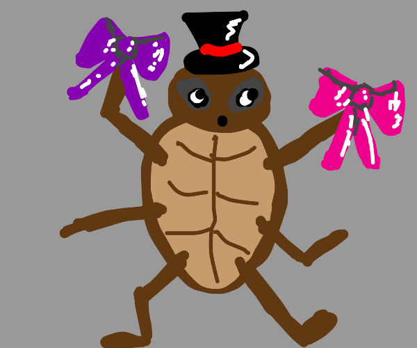 bug dances with ribbons