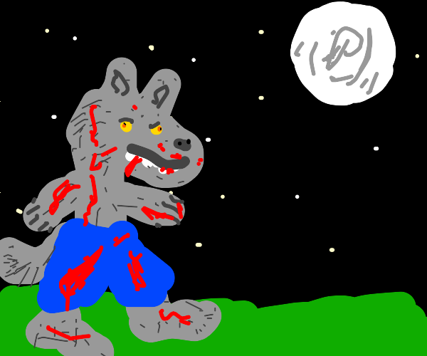 Bloody wolf man