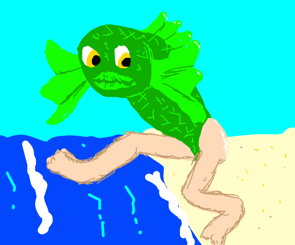 Reverse mermaid jumping